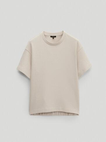 Sweatshirt katun dengan lengan pendek