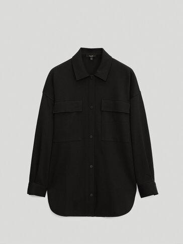 Черна връхна риза