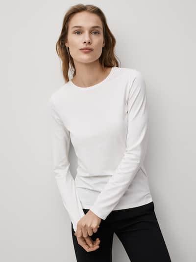 마시모두띠 Massimo Dutti plain cotton t-shirt,WHITE