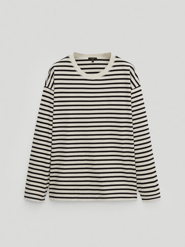 Striped 100% cotton T-shirt