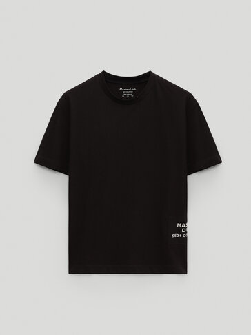 Cotton T-shirt featuring patch detail