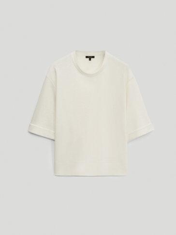 Sudadera algodón lino manga codo