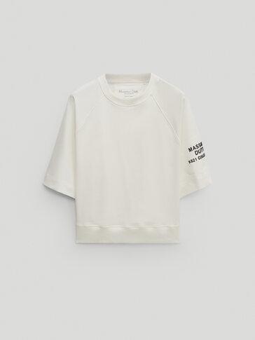 Sudadera algodón detalle parche