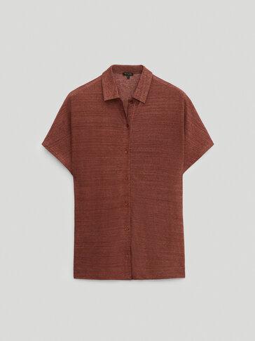 100% linen premium polo shirt