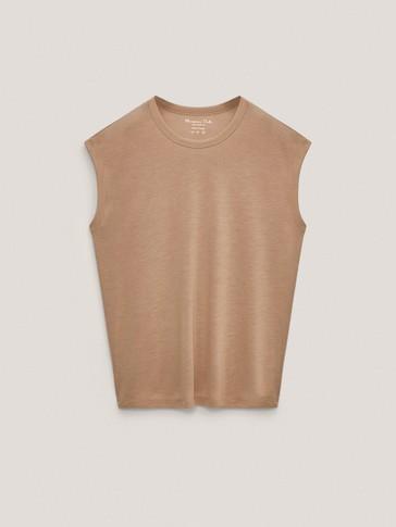 Camiseta sin mangas 100% lyocell