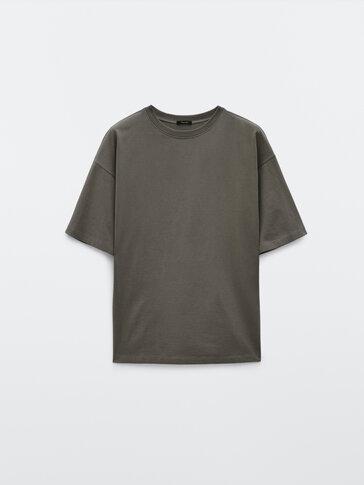 Хлопковая футболка с надписью сзади