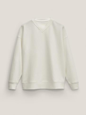 Sudadera cuello redondo algodón