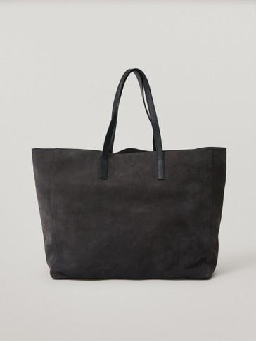 Замшевая сумка-шопер