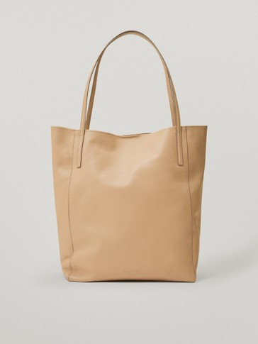 Nappa leather tote bag