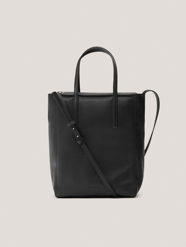 Nappa leather tote bag