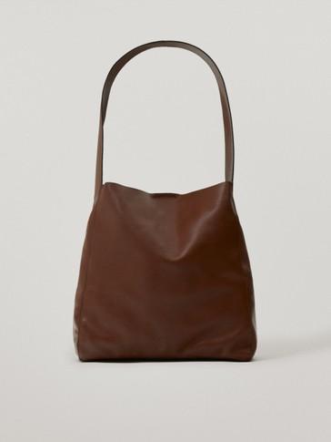 Kožená kabelka na rameno