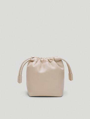 Сумка-мешок из кожи наппа