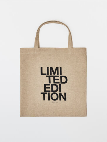 100% linen tote bag - Limited Edition