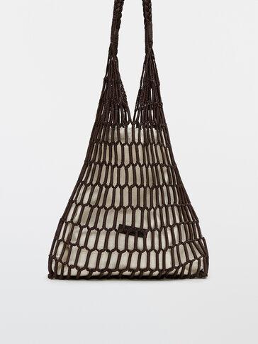 Handwoven mesh bag