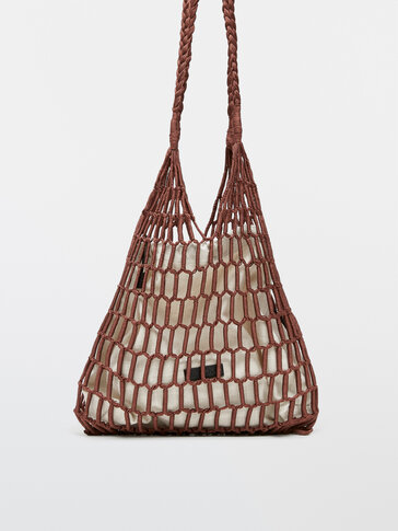 Handwoven mesh bag