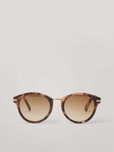 Pink metal bridge sunglasses