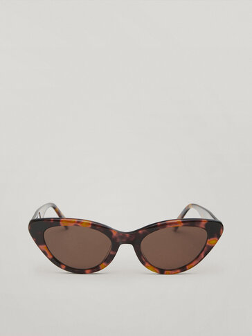 نظارات شمسية نمط القطة بنقشة عظم ظهر السلحفاة من الرزين