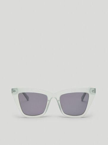 Gafas de sol de pasta color menta