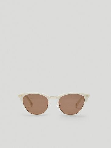 Gafas de sol estructura blanca