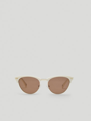 White frame sunglasses
