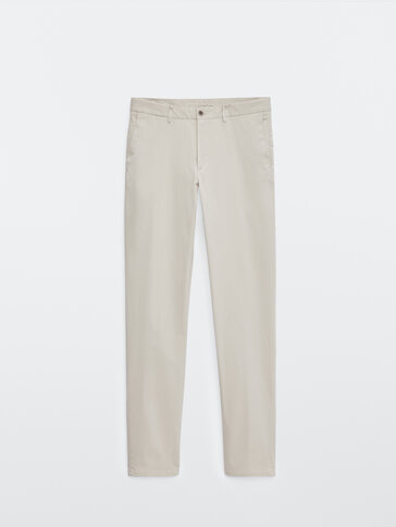 Pantalon chino en coton slim fit