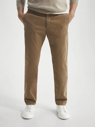 Regular fit cotton chinos