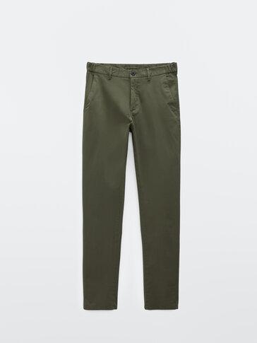 Pantalón chino algodón regular fit
