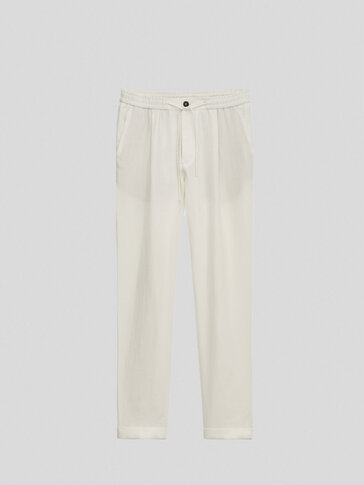 Pantalón 100% lino casual fit Limited Edition
