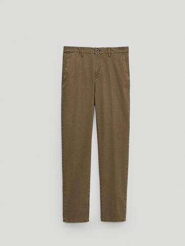 Pantalón chino algodón slim fit