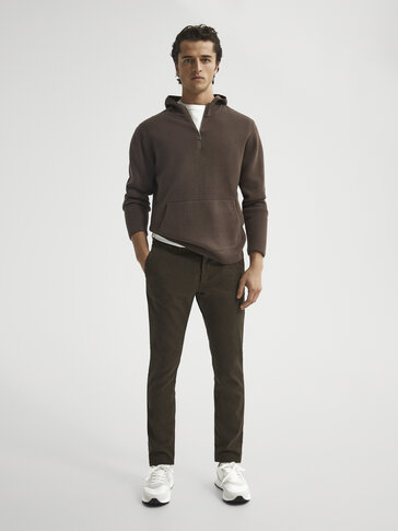 Gekleurde chino slim fit
