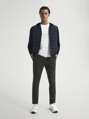 Slim-fit farvede chinobukser