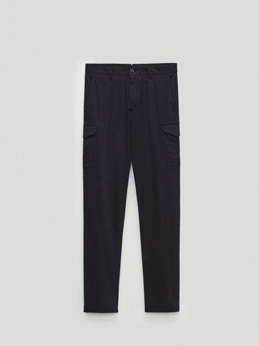 Slim fit cargo trousers with pockets