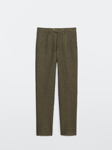 Pantalón lino leisure fit