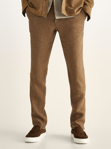 Leisure fit linen trousers