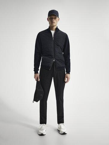 Втален панталон джогър от мъхест серж