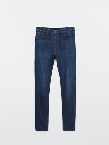 Cotton and linen casual fit jeans