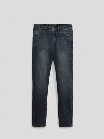Stonewashed slim fit jeans