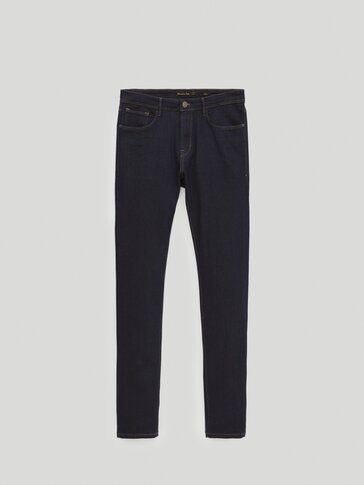 Slim fit desized jeans