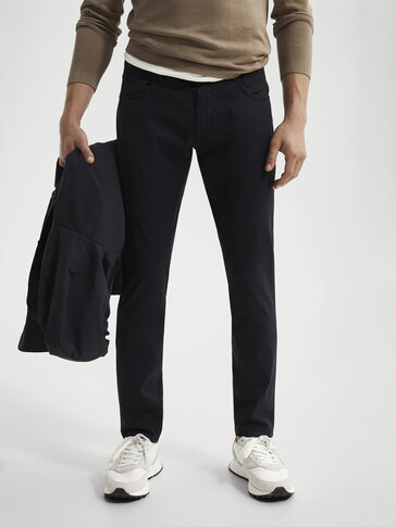 Five-Pocket-Hose aus Baumwolle im Slim-Fit