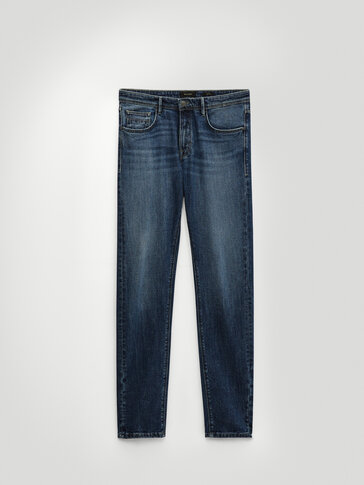 Slim fit stone wash jeans