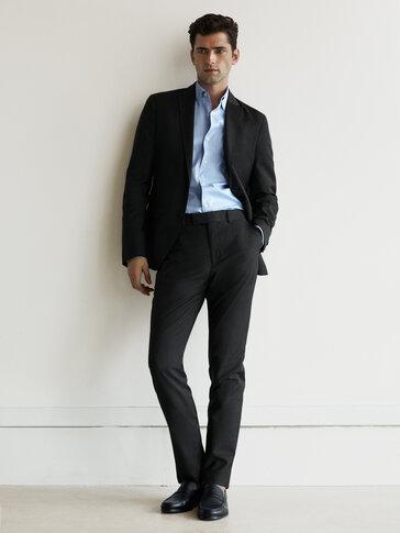 Slim-Fit-Hose aus reiner Wolle