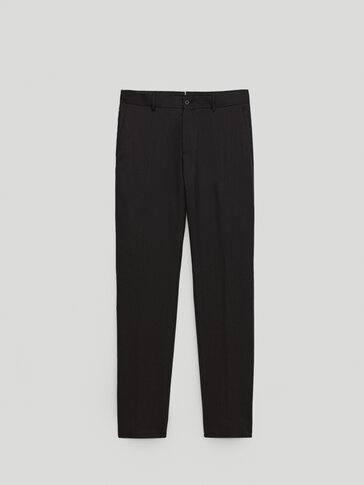 120's wool slim fit trousers