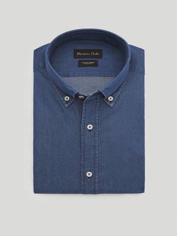 Camisa denim 100% algodón slim fit