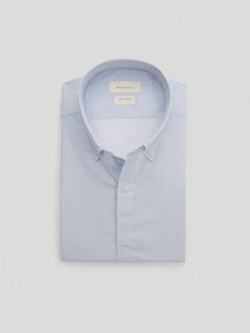 Košulja od 100 % pamuka slim kroja s uzorkom