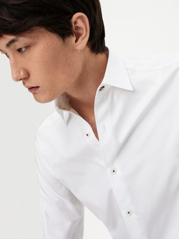 Slim-fit 100% cotton shirt