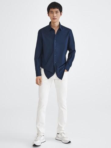 Рубашка зауженного кроя из 100% хлопка