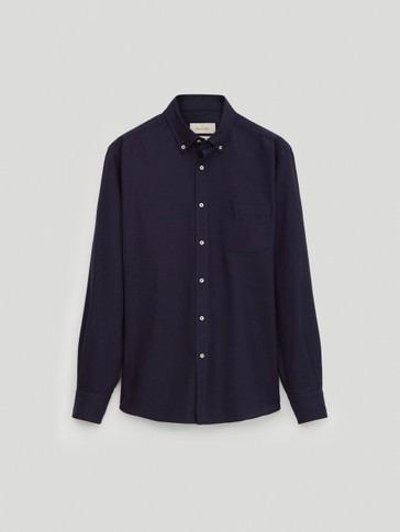 100% katoenen oxford overhemd regular fit