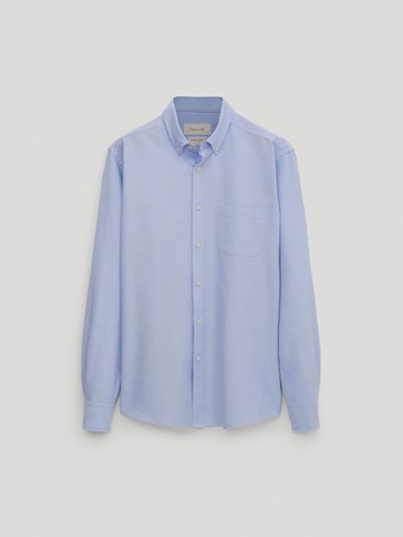 Camisa oxford 100% algodón regular fit