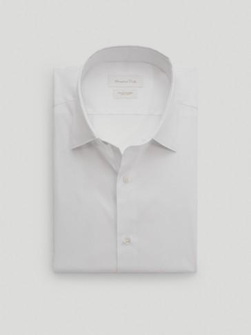 Рубашка облегающего кроя из эластичного хлопка