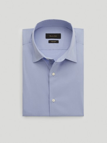 Camisa stretch algodón slim fit